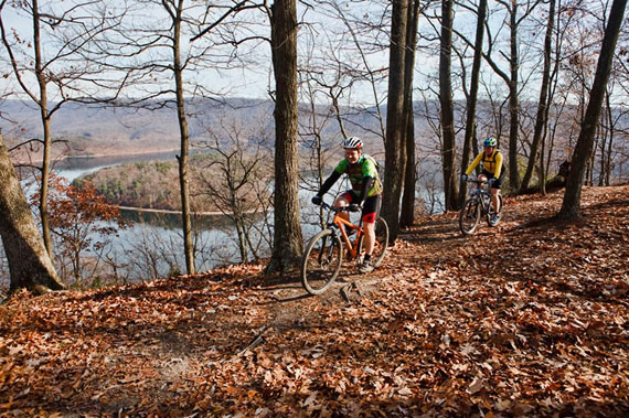 Biking trails are built and maintained through the efforts of supported Friends groups