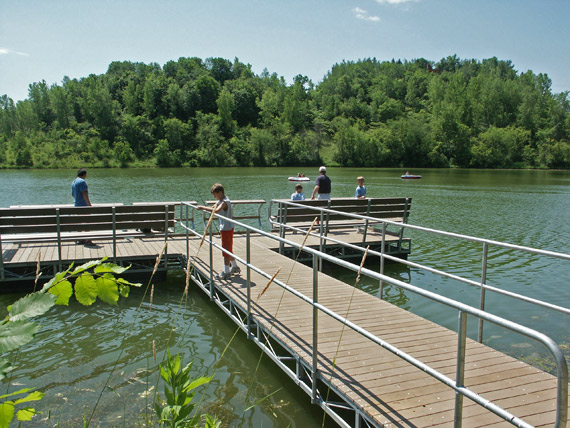 This fishing pier, a partnership project, creates fishing opportunities while protecting fragile lakeshore habitat